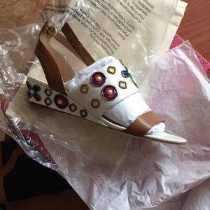 c333d3ca00589 Tory Burch Shoes - Tory burch Estella wedge sandal